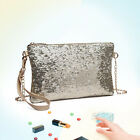 Women Sequined Medium Clutch Bag Bridal Ladies Evening Party Prom Glitter Shine