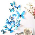 12 x 3D Decal Colourful Butterflies Wall Stickers Home Decor