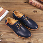 Mens oxfords Leather Shoes Business Casual British style Dress Formal Lace Up