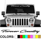Forever Country Script Windshield Decal Sticker Vinyl Diesel  Turbo Car Truck