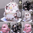USA Ladies Floral Backpack Travel Leather Handbag Rucksack Socialize with School Bag