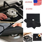 Set of 2/4 Reusable Fiberglass Stove Top Gas Burner Protectors Clean Liner Cover