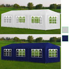 Outdoor 10x30 White Blue Canopy Party Tent Gazebo Cater Events 8 Sidewalls