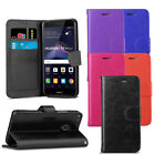 For Huawei P8 Lite 2017 - Premium Leather Wallet Flip Case Cover + Protector