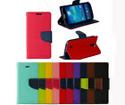Luxury Wallet ID Card Stand Flip Leather Cover Dual Color Case For APPLE/Samsung