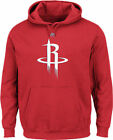 Houston Rockets Mens Red Majestic Logo 2 Hoodie Sweatshirt on eBay