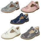 Girls Clarks Smart Casual First T-Bar Shoes Yarn Weave