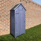 Premium Beach Hut Style Garden Wooden Sentry Box - Outdoor Storage Tool Shed
