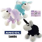Ancol Cute Plush Lamb Soft Cuddly Comforter Puppy Small Dog Lilac Blue Black