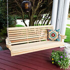 Porchgate Rollback Comfort Cypress Porch Swing With Cupholders