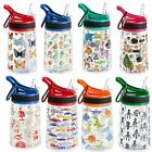 350ml childs water bottle BPA FREE ASSORTED DESIGNS KIDS Reusable travel school
