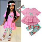 kids easter outfits - US Stock Kids Baby Girls Easter Tops Blouse Dress Pants Leggings Outfits Set HZ