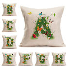 "18"" Grass Petals butterfly Letter Style Pillow Case Linen Sofa Car Cushion Cover"