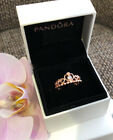 Pandora Rose Gold My Princess Tiara Ring Sizes 6, 7, 7.5, 8.5, #180880CZ