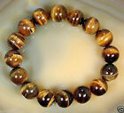 2PC 8mm Natural African Roar Natural Tiger's Eye stone Round Bead bracelet 7.5''