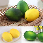 6pcs Lemon Artificial Fruit Fake Theater Prop Staging Home Decor Faux Lemons