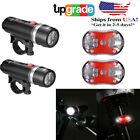 Waterproof 5 LED Lamp Bike Bicycle Front Head Light + Rear Safety Flashlight Set