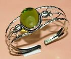 Free Shipping Perisot Cab's Oval Shape Gemstone Jewelry Bangle 7 TO 9'' IM16-24