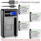 Kastar Battery LCD Charger for Fujifilm NP-45 NP-45A FinePix JX355 FinePix JX360