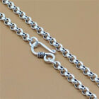 925 Sterling Silver Rolo Chain Necklace Rollo Belcher 4mm 18 20 22 24 26 28 30""