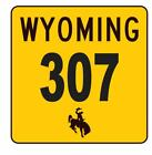 Wyoming Area Code 307 Sticker R4211 Highway Sign