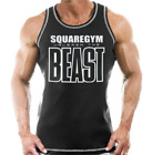 Tee Gym Men Bodybuilding Tank Top Muscle Stringer Athletic Fittness Shirt
