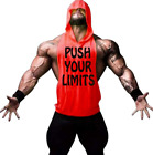 Blouse Gym Men's Bodybuilding Hoodie Tank Top Muscle Fittness Shirt Athletic