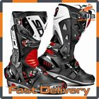 Sidi Vortice Motorcycle Motorbike Sport Track Racing Boots - Black/Red/White