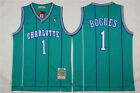 NEW Charlotte Hornets #1 Muggsy Bogues Retro Swingman Basketball Jersey Green on eBay