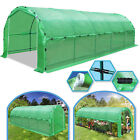 24.6/ 20x10x7'H Deluxe Large Walk-In Greenhouse w Snap Clips Garden Steel Frame