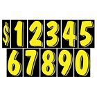 7 1/2 Inch Yellow & Black Numbers Windshield Pricing Stickers Car Dealer YouPick