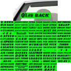 "14.5"" Black & Green Adhesive Windshield Slogan Car Dealer Sticker You Pick"