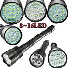 Police Tactical 80000LMs 3x~16x T6 LED 5-Mode 18650 Flashlight Torch Lamp Light