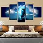 5 Panel Clouds Landscape Animal Wolf Canvas HD Prints Painting Wall Art Decor