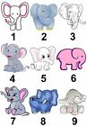 Elephant Small or Large Sticky White Paper Stickers Labels NEW