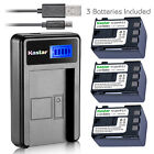 Kastar Battery LCD Charger for Canon NB-2L12 NB-2L & Canon EOS Digital Rebel Xti