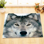 strong Wolf in snow Shower Curtain Sets Bathroom Waterproof Fabric 12 Hooks
