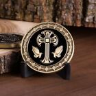 All Things Are Possible Jesus Fish Cross Praying Hands Brass Challenge Coin.