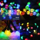 Lalapao Solar Powered Xmas Outdoor String Light 2 Pack 50 Led G12 Fairy Christma