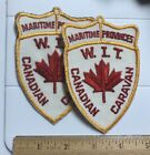 Lot of 2 WIT Winnebago Club Canadian Caravan Maritime Provinces Patches