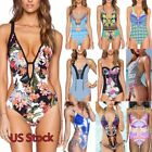 US Stock Womens One Piece Beach Swimsuit Swimwear Monokini Push Up Padded Bikini
