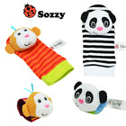 Baby Plush Toy Kids Socks Animal Cotton Cute Rattles Wrist Strap Infant Newborn