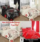 Floral Duvet Quilt Cover Bedding Set Pillowcase Cover New Color Style Design Bed