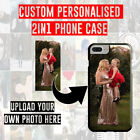UPLOAD YOUR OWN PHOTO IMAGE PERSONALISED CUSTOM 2-IN-1 RUBBER PHONE CASE COVER