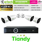 TIANDY 1/2/3/4 IP CAMERA CCTV KIT BUNDLE CCTV SYSTEM 2MP POE MINI BULLET P2P SD