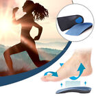 3/4 Length EVA Fasciitis Orthotic Insoles Arch Support Shock Absorb Sport Pads