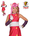 Sonic Boom Amy The Hedgehog Girls Fancy Dress Costume 80s Videogame Outfit