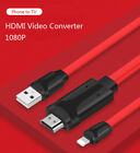 iphone projector cable - iOS11 HDMI Video Cable Adapter Phone to TV Projector for iPhone X 5S 6 7 8 Plus