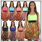 Women's Floral Dress Summer Beach Casual Holiday Mini Dress One Size 6,8,10 UK