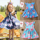 green children - USA Toddler Kids Baby Girls Unicorn Floral Party Pageant Dress Sundress Clothes